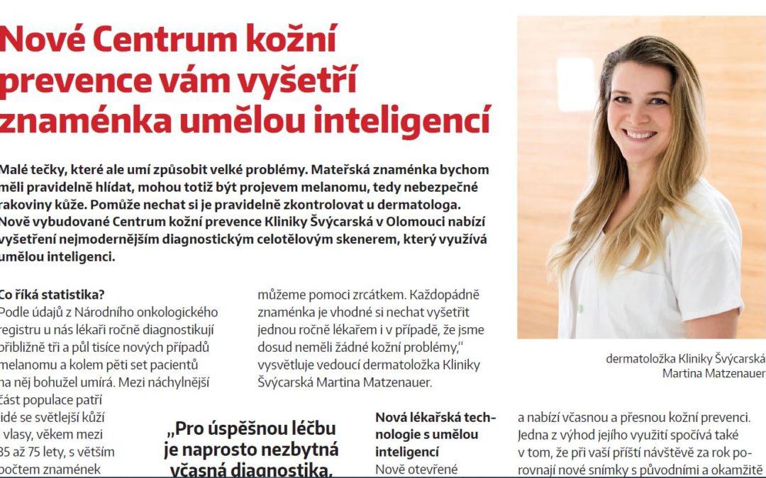Vyšetření znamének umělou inteligencí